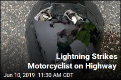 Motorcyclist Struck by Lightning, Causing Fatal Crash