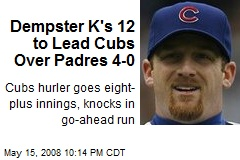 Dempster K's 12 to Lead Cubs Over Padres 4-0