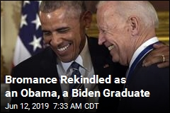 As an Obama and a Biden Graduate, Old Pals Reunite