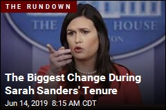 The Biggest Change During Sarah Sanders' Tenure