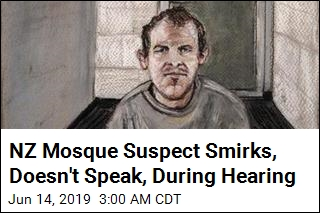 NZ Mosque Suspect Smirks, Pleads Not Guilty