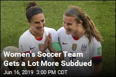 Women's Soccer Team Reacts Differently This Time
