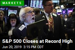 S&P 500 Closes at Record High