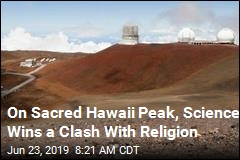 At Sacred Hawaii Peak, a Massive Telescope Is Going in