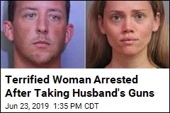 Woman Charged After Giving Husband's Guns to Police