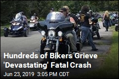 Hundreds of Bikers Grieve 'Devastating' Fatal Crash