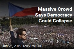 Massive Crowd Says Democracy Could Collapse