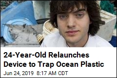 24-Year-Old Relaunches Device to Trap Ocean Plastic
