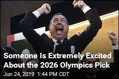 Someone Is Extremely Excited About the 2026 Olympics Pick
