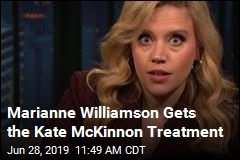 Kate McKinnon Is 'Perfect' as Marianne Williamson