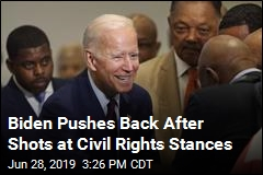 Biden Says He Fought His Heart Out for Civil Rights