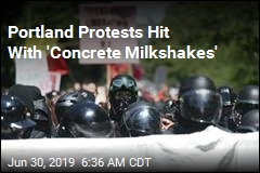 Antifa-Proud Boys Protests See 'Concrete Milkshakes'