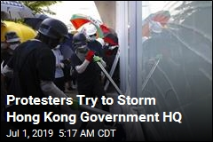 Protesters Try to Storm Hong Kong Government HQ