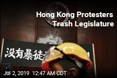 Hong Kong Protesters Trash Legislature