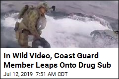 Coast Guard Member Jumps on Drug Sub in Dramatic Raid