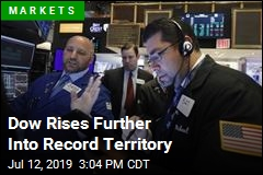 Dow Rises Further Into Record Territory