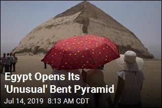 Egypt Open Its 'Unusual' Bent Pyramid