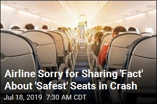 Airline Sorry for Sharing 'Fact' About 'Safest' Seats in Crash
