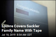 Louvre Covers Sackler Family Name With Tape