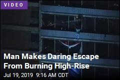 In 3 Tense Minutes, Man Descends From Burning High-Rise
