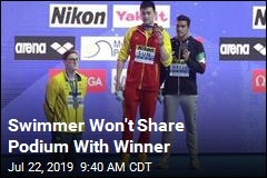 Swimmer Won't Share Podium With Winner