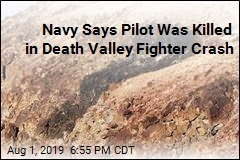 Navy Says Pilot Was Killed in Death Valley Fighter Crash