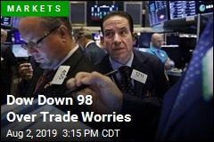 Dow Down 98 Over Trade Worries