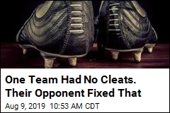 One Team Had No Cleats. Their Opponent Fixed That