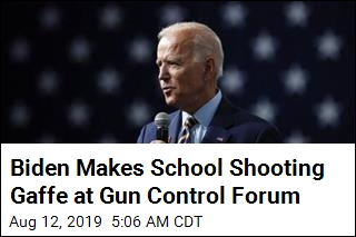 Biden Makes School Shooting Gaffe at Gun Control Forum