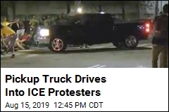 Pickup Drives Into ICE Protesters in Rhode Island