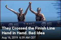 They Crossed the Finish Line Hand-in-Hand. Bad Idea