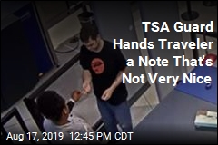 TSA Guard Fired for Giving Traveler a Note