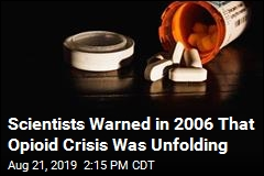 Scientists Warned in 2006 That Opioid Crisis Was Unfolding
