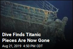 Dive Finds Titanic Pieces Are Now Gone