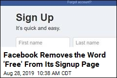 Facebook's Signup Page Bears a New Set of Words