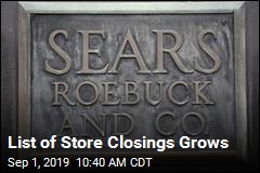List of Store Closings Grows