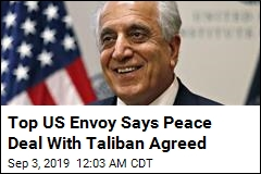 US Envoy Says Deal With Taliban Agreed 'in Principle'