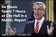 De Blasio Spent 7 Hours at City Hall in a Month: Report