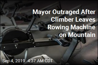 Mayor Outraged After Rowing Machine Left on Mountain
