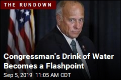 Congressman's Drink of Water Becomes a Flashpoint