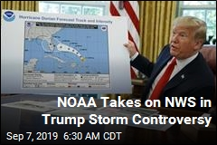 NOAA Backs Trump Over National Weather Service on Dorian Claim