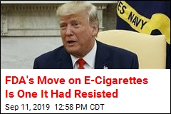 Trump Will Move to Ban Flavored E-Cigarettes