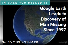 Body of Man Missing 22 Years Found, Possibly Thanks to Google Earth