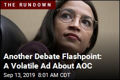 Volatile Ad During Debate Takes Aim at AOC