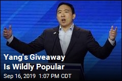 Yang's Giveaway Is Wildly Popular