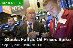 Stocks Fall as Oil Prices Spike
