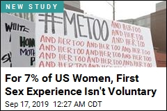 For 7% of US Women, First Sex Experience Isn't Voluntary