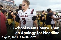 School Wants More Than an Apology for Headline