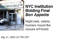 NYC Institution Bidding Final Bon Appetits