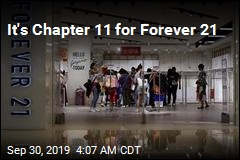It's Chapter 11 for Forever 21
